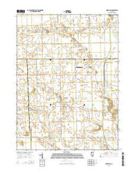 Yorktown Illinois Current topographic map, 1:24000 scale, 7.5 X 7.5 Minute, Year 2015