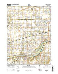 Yorkville Illinois Current topographic map, 1:24000 scale, 7.5 X 7.5 Minute, Year 2015
