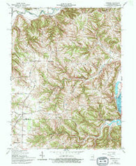 Aberdeen Indiana Historical topographic map, 1:24000 scale, 7.5 X 7.5 Minute, Year 1965