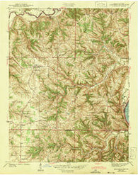 Aberdeen Indiana Historical topographic map, 1:24000 scale, 7.5 X 7.5 Minute, Year 1943