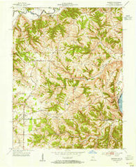 Aberdeen Indiana Historical topographic map, 1:24000 scale, 7.5 X 7.5 Minute, Year 1953