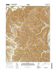 Aberdeen Indiana Current topographic map, 1:24000 scale, 7.5 X 7.5 Minute, Year 2016