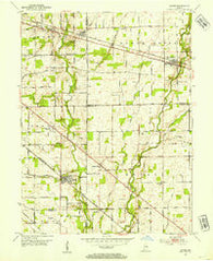 Acton Indiana Historical topographic map, 1:24000 scale, 7.5 X 7.5 Minute, Year 1953