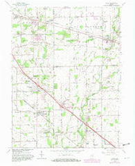 Acton Indiana Historical topographic map, 1:24000 scale, 7.5 X 7.5 Minute, Year 1962