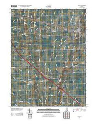 Acton Indiana Historical topographic map, 1:24000 scale, 7.5 X 7.5 Minute, Year 2010