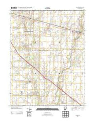 Acton Indiana Historical topographic map, 1:24000 scale, 7.5 X 7.5 Minute, Year 2013