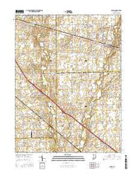 Acton Indiana Current topographic map, 1:24000 scale, 7.5 X 7.5 Minute, Year 2016