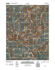 Adams Indiana Historical topographic map, 1:24000 scale, 7.5 X 7.5 Minute, Year 2010
