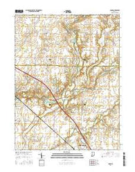 Adams Indiana Current topographic map, 1:24000 scale, 7.5 X 7.5 Minute, Year 2016