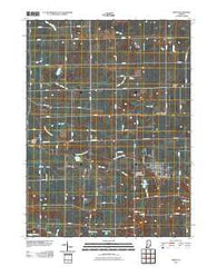Akron Indiana Historical topographic map, 1:24000 scale, 7.5 X 7.5 Minute, Year 2010