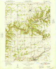 Alamo Indiana Historical topographic map, 1:24000 scale, 7.5 X 7.5 Minute, Year 1949
