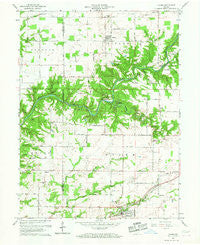 Alamo Indiana Historical topographic map, 1:24000 scale, 7.5 X 7.5 Minute, Year 1961