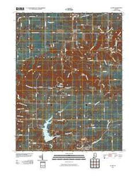 Alamo Indiana Historical topographic map, 1:24000 scale, 7.5 X 7.5 Minute, Year 2010