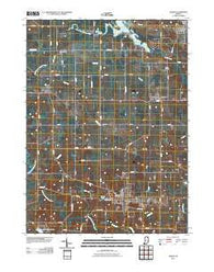 Albion Indiana Historical topographic map, 1:24000 scale, 7.5 X 7.5 Minute, Year 2010