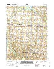 Albion Indiana Current topographic map, 1:24000 scale, 7.5 X 7.5 Minute, Year 2016 from Indiana Maps Store