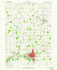 Alexandria Indiana Historical topographic map, 1:24000 scale, 7.5 X 7.5 Minute, Year 1960