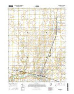 Alexandria Indiana Current topographic map, 1:24000 scale, 7.5 X 7.5 Minute, Year 2016 from Indiana Map Store