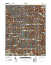 Alfordsville Indiana Historical topographic map, 1:24000 scale, 7.5 X 7.5 Minute, Year 2010