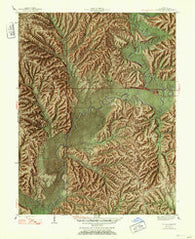 Allens Creek Indiana Historical topographic map, 1:24000 scale, 7.5 X 7.5 Minute, Year 1947