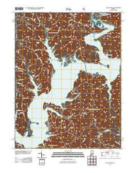 Allens Creek Indiana Historical topographic map, 1:24000 scale, 7.5 X 7.5 Minute, Year 2011