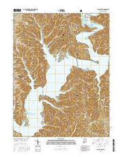 Allens Creek Indiana Current topographic map, 1:24000 scale, 7.5 X 7.5 Minute, Year 2016 from Indiana Maps Store