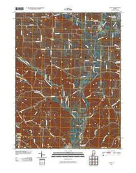 Alpine Indiana Historical topographic map, 1:24000 scale, 7.5 X 7.5 Minute, Year 2010