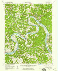 Alton Indiana Historical topographic map, 1:62500 scale, 15 X 15 Minute, Year 1950