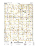 Amboy Indiana Current topographic map, 1:24000 scale, 7.5 X 7.5 Minute, Year 2016 from Indiana Map Store