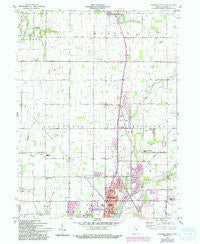 Anderson North Indiana Historical topographic map, 1:24000 scale, 7.5 X 7.5 Minute, Year 1960
