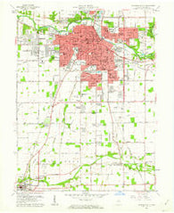 Anderson South Indiana Historical topographic map, 1:24000 scale, 7.5 X 7.5 Minute, Year 1961