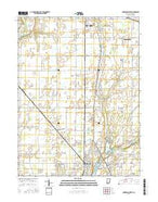Anderson North Indiana Current topographic map, 1:24000 scale, 7.5 X 7.5 Minute, Year 2016 from Indiana Map Store
