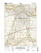 Anderson South Indiana Current topographic map, 1:24000 scale, 7.5 X 7.5 Minute, Year 2016 from Indiana Map Store