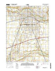 Anderson South Indiana Current topographic map, 1:24000 scale, 7.5 X 7.5 Minute, Year 2016 from Indiana Maps Store