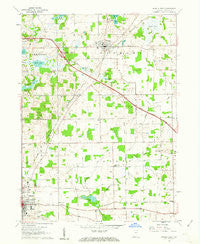 Angola East Indiana Historical topographic map, 1:24000 scale, 7.5 X 7.5 Minute, Year 1960