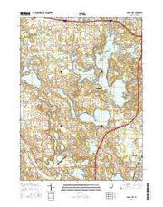 Angola West Indiana Current topographic map, 1:24000 scale, 7.5 X 7.5 Minute, Year 2016 from Indiana Maps Store