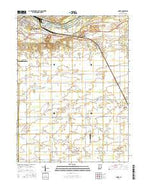 Anoka Indiana Current topographic map, 1:24000 scale, 7.5 X 7.5 Minute, Year 2016 from Indiana Map Store