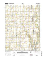Arcadia Indiana Current topographic map, 1:24000 scale, 7.5 X 7.5 Minute, Year 2016 from Indiana Map Store