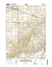 Arcola Indiana Current topographic map, 1:24000 scale, 7.5 X 7.5 Minute, Year 2016 from Indiana Maps Store