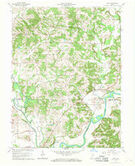 Arney Indiana Historical topographic map, 1:24000 scale, 7.5 X 7.5 Minute, Year 1966