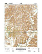 Arney Indiana Current topographic map, 1:24000 scale, 7.5 X 7.5 Minute, Year 2016 from Indiana Map Store