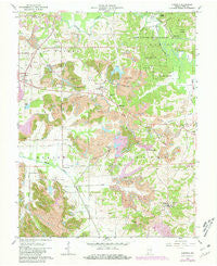 Augusta Indiana Historical topographic map, 1:24000 scale, 7.5 X 7.5 Minute, Year 1961
