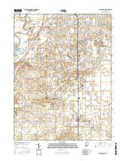 Bargersville Indiana Current topographic map, 1:24000 scale, 7.5 X 7.5 Minute, Year 2016 from Indiana Maps Store