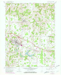 Batesville Indiana Historical topographic map, 1:24000 scale, 7.5 X 7.5 Minute, Year 1961