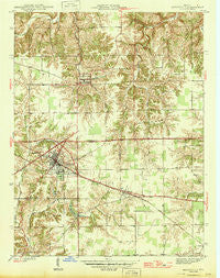 Batesville Indiana Historical topographic map, 1:24000 scale, 7.5 X 7.5 Minute, Year 1946