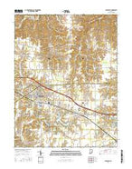 Batesville Indiana Current topographic map, 1:24000 scale, 7.5 X 7.5 Minute, Year 2016 from Indiana Map Store