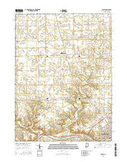 Bippus Indiana Current topographic map, 1:24000 scale, 7.5 X 7.5 Minute, Year 2016 from Indiana Maps Store