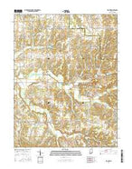 Blocher Indiana Current topographic map, 1:24000 scale, 7.5 X 7.5 Minute, Year 2016 from Indiana Map Store