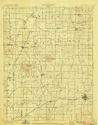 Boonville Indiana Historical topographic map, 1:62500 scale, 15 X 15 Minute, Year 1902