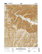 Borden Indiana Current topographic map, 1:24000 scale, 7.5 X 7.5 Minute, Year 2016 from Indiana Map Store
