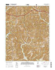 Branchville Indiana Current topographic map, 1:24000 scale, 7.5 X 7.5 Minute, Year 2016